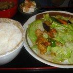定食や - 鶏野菜オイスタ炒め