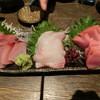 宏二郎丸 - 料理写真:「刺身三点」(平政・平目・ハガツオ)1,300円