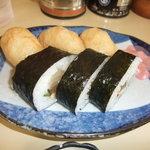 岡本中華 - お寿司です。中華そばと良く合う味付けです☆