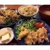 松富や壽 - 料理写真:ランチ¥1300唯一の肉は鶏胸肉の唐揚げ 玄米ご飯に具の無いお味噌汁