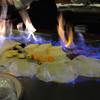 ラグー - 料理写真:デザートが「ファイア〜‼︎」します。