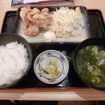 目利きの銀次 - 揚げたて朝唐定食519円(税込)