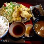 町家かふぇ - ランパスとり天定食 500円(税込) (2015.06現在)