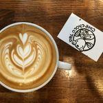 カフェ チョコッティー - フリーポアのアート カフェラテ¥450-