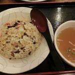 ラーメンいりき - 餃子大+ミニ炒飯(470+380)H27.6