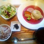 あじと cafe日びの - 料理写真:ベジチーズバーグセット