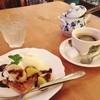 オールドビーム - 料理写真:今日のケーキ(フロランタンとアイスクリーム)とブレンドコーヒー