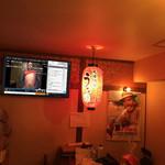 大衆酒場うな - 店内のモニターでは常にニコニコ生放送が流れております。