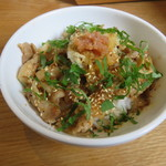 カクルル - ランチC:豚の梅しそ丼、サラダ、アイスコーヒー2