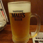 鉄板酒場アケボノヤ - 生ビール:475円