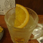 鉄板酒場アケボノヤ - オレンジ入りです