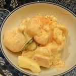 海 - 料理写真:お通し「海老サラダ」