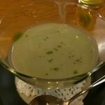 魚楽 - 料理写真:そら豆のポタージュ