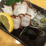 居酒屋茶々 - 明石のタコの刺身