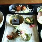 そば切り 稲美 - つつじ御膳 1200円 麦とろろご飯プラス150円