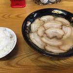 水城ラーメン - ⚫︎チャーシュー麺=700円 ⚫︎小ご飯=100円