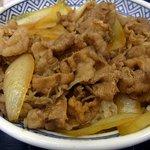 吉野家 宇都宮パセオ店 - 牛丼並のアップです。