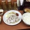 Sガスト - 料理写真:ピリ辛冷しゃぶ定食  豚汁セットご飯大盛り  追加山かけとろろ