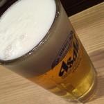 まぐろ一代 - 生ビール(570円→300円)2015年6月