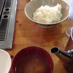 バーベキューガーデン - ご飯の大盛