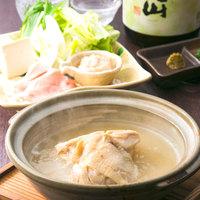 水炊き ひな鶏のコラーゲンスープ白湯