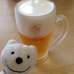 天丼の岩松 - 生ビール Draft Beer at Tendon-no-Iwamatsu, Aeon Kurihama!♪☆(*^o^*)
