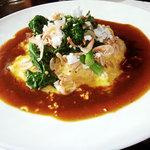 美味卵家 - 桜海老と菜の花のオムハヤシライス