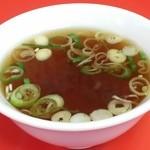 春き食堂 - 【H27.7.1】附属のスープ。美味しい♪