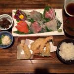 龍のおとし子 - 刺身天ぷら定食 1280円
