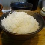 麺童虎徹 - 「麺童虎徹」こちらは小ライス100円(税込)のアップ