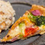 スラッシュカフェ - サーモンと和野菜のキッシュ ・玄米入りのシーフードのリゾット【2015年6月】