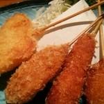酒・肴 魚信 - 串揚げ盛合せ650円