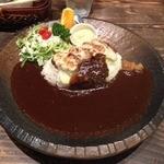 Cafe 婆沙羅 - とんチーカレープレート(1080円)+大盛り(216円)