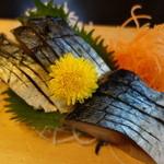 魚河岸割烹さかなや千本一 - しめサバ600円