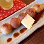 古都香 - バター醤油のお団子と水出し煎茶(一保堂)
