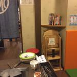 お好み焼肉 道とん堀 - 子供椅子(遠くからすいません)