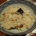 旬鮮炭火焼 獺祭 - 鯖の炊き込みご飯