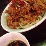 六代目けいすけ - 辛味肉ダブル盛つけ麺中盛 2015.7撮影