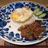 パパイヤ タイ食堂 - 料理写真:ランチAセット≪ガパオライス≫(\980、2015年5月)