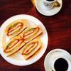 銀座ブラジル - 料理写真:ブレンドコーヒー、元祖ロースカツサンド