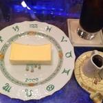 金魚坂 - レアチーズケーキセット