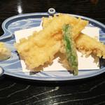 寿司割烹吾妻 - 穴子の天ぷら