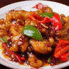 香港美食園  - 料理写真:鶏肉唐揚げの甘酢辛子炒め