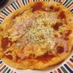 レモンバーム - 那須三元豚のベーコンときのこのピザ