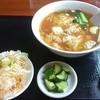 中国料理 盛栄 - 料理写真:まずはワンタン麺から配膳