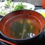 ゆうき食堂 - 刺身2点盛り定食の椀
