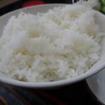 ゆうき食堂 - 刺身2点盛り定食のライス