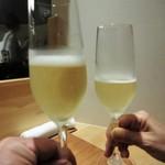 39738318 - Ca del Bosco CUVEE PRESTIGE(スプマンテ)で乾杯です。