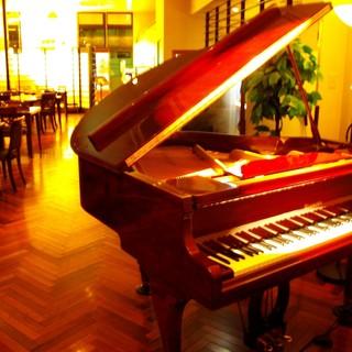夜は雰囲気を大切に・・・ピアノの生演奏