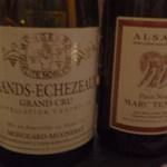 レストラン ラ フィネス - ワインはこちら Domaine Mougead Mugeret 2009       Grand crue Grabd Echezeaux       とテンペ